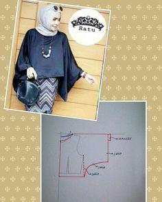 #pattern #fashionpattern #blousepattern #pola #polabaju #polablouse #ootdkondangan #pomobaki