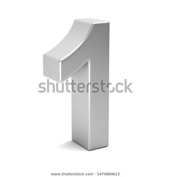 Number One Color White Icon 3d Stock Illustration  #3d #one #1 #number #white #best #render