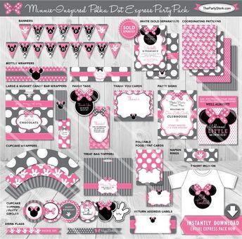 Minnie Mouse 3rd Birthday Invitation Invites
