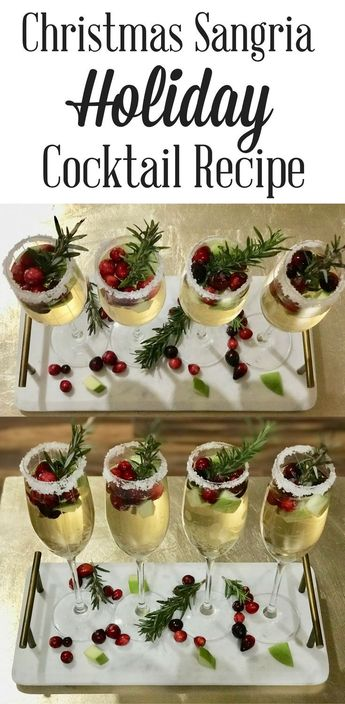 Christmas Sangria Cocktail