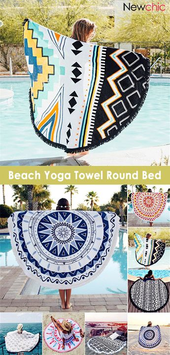 150cm European Style Polyester Fiber Beach Yoga Towel Round Bed Sheet Tapestry Tablecloth.