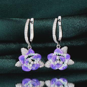 bfccd37f0b ISOLA Elaborate Cross Purple Exuberance Flowers Rhinestone