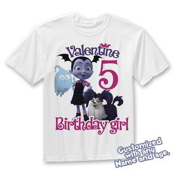 38e0633c2 Details about Vampirina Birthday Shirt, Vampirina Shirt, Va
