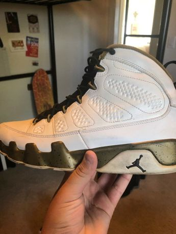 best service c8ee0 fd46b Air Jordan 9 Gold Olive And White.  fashion  clothing  shoes  accessories