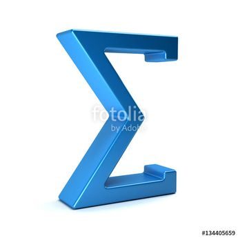 """Download the royalty-free photo """"Sigma, Summation Symbol. 3D Rendering Illustration"""" created by Fotolia365 at the lowest price on Fotolia.com. Browse our cheap image bank online to find the perfect stock photo for your marketing projects!"""