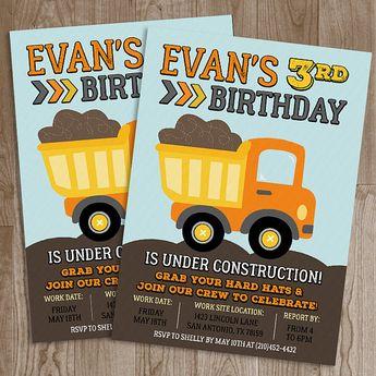 construction birthday invitation construction birthday par