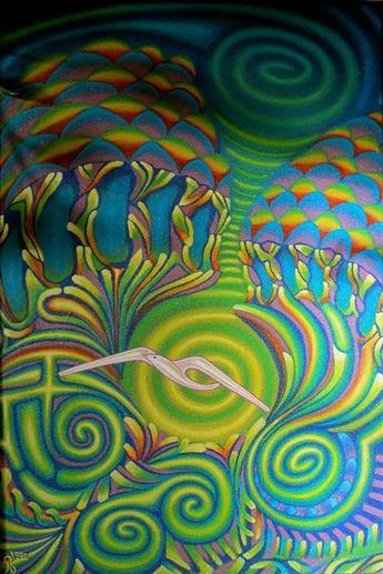Dimensions Wechsel, Acryl malerei,  RZ © 1992 Privatbesitz