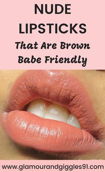 Best Nude Lipsticks for Brown Girls