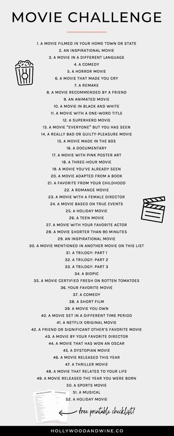 Movie Challenge (+ a free printable checklist!)