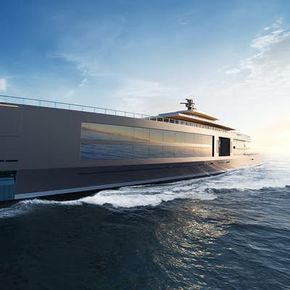 "Sinot's 120-meter superyacht gets back to ""Nature"""