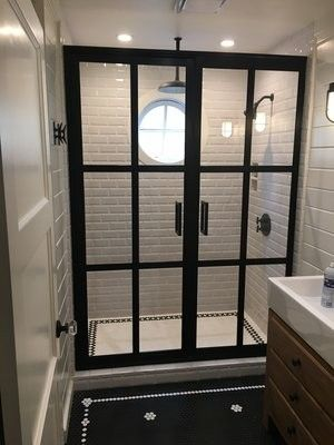 Gridscape Double Swing French Doors by Coastal Shower Doors