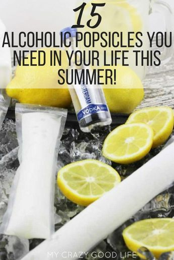 Summer is here and that means it's time to cool off with some deliciously refreshing alcoholic popsicles! These alcoholic popsicle recipes are quick, easy, fun, and perfect for poolside parties. There's tons of different flavor combos so you can make something for everyone or something that includes your favorite alcohol. #summerrecipes #funrecipes #popsicles #boozypopsicles #recipes #homemade via @bludlum