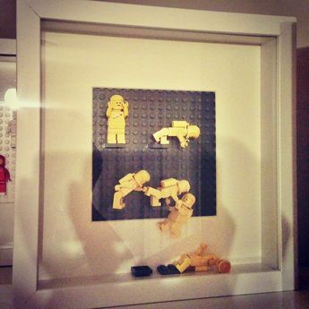"""The Incident"" Lego Classic Space framed wall art and display by Ben Teoh"