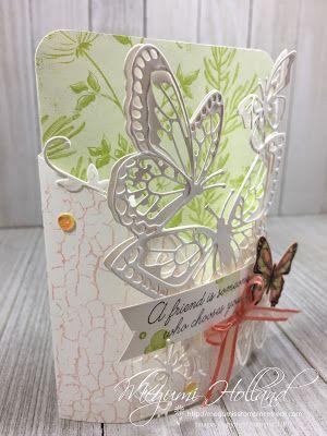 Megumi's Stampin Retreat: Beauty Abounds Bendi Card Trio - April Card Club