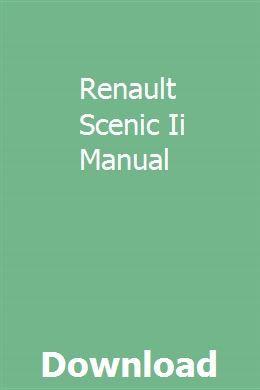 Renault Scenic Ii Manual