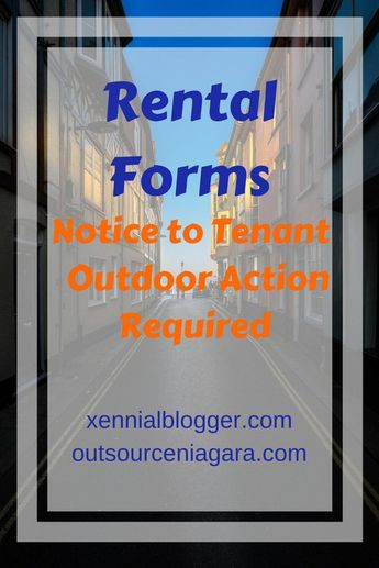 Rental Forms: Notice to Tenant for Outdoor Action Required Clean Up Letter Rent House Landlord
