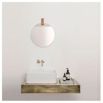 Simple, sleek, and innovative design that portray the beauty of the product! Complete your bathroom with the  VIGO Olus Wall Mount Bathroom Faucet  Click to see more! | VIGO Industries - Bathroom sinks and faucets design ideas - BathroomRemodels - Home Interior