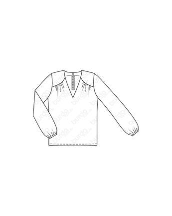 Schnittmuster Sweater · Die abgetrennte Tasche eines alten