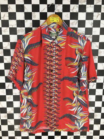 84d2c689a Vintage KAMEHAMEHA HAWAIIAN 80's Rayon Shirt Medium Floral Rockabilly  Leaves Surfer Tropical Aloha Beach Hawaii Rayon