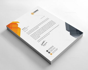 Print Ready Letterhead Template - Graphic Templates