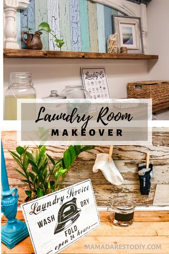Laundry Room Makeover Budget Friendly Farmhouse Style