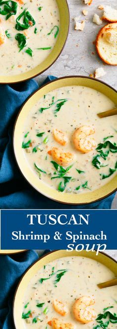 Tuscan Shrimp and Spinach Soup