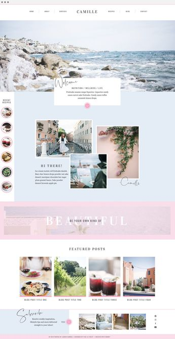 Camille Website Template for Showit by Viva la Violet | A chic & feminine design for bloggers and business owners to highlight your content in a stunning way
