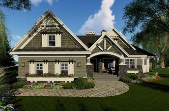 House Plan 098-00293 - Bungalow Plan: 1,971 Square Feet, 3 Bedrooms, 2.5 Bathrooms