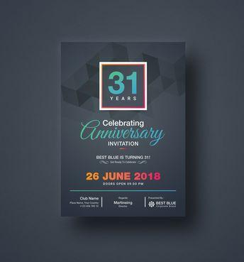 Zeus Elegant Anniversary Invitation Template - Graphic Templates