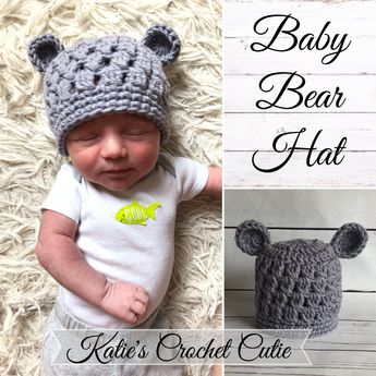 dab7784337c Teddy Bear Hat which is so adorable !! Perfect Hat for the hospital stay and