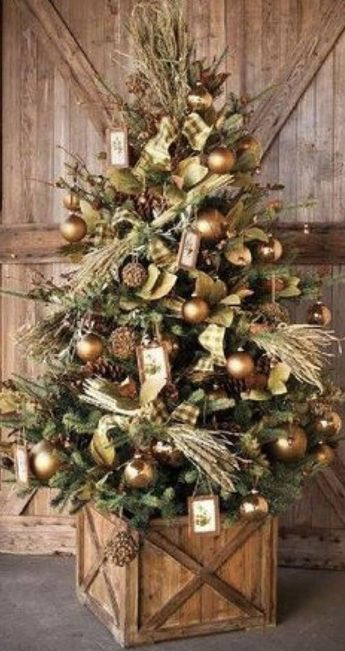 The Farmhouse Christmas Tree Box Tree Skirt Tree Collar