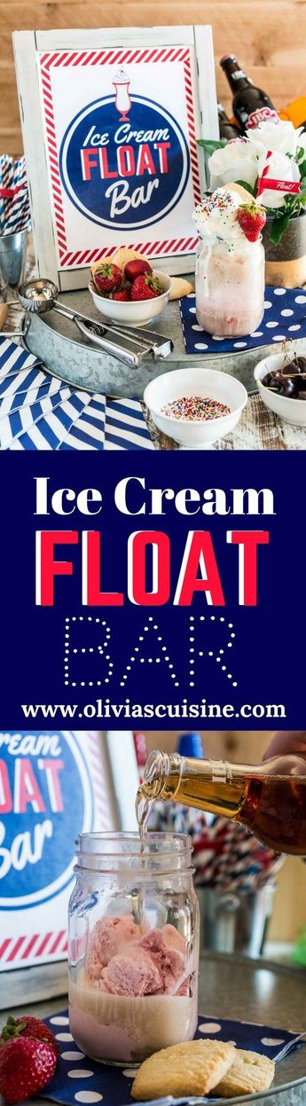 Ice Cream Float Bar