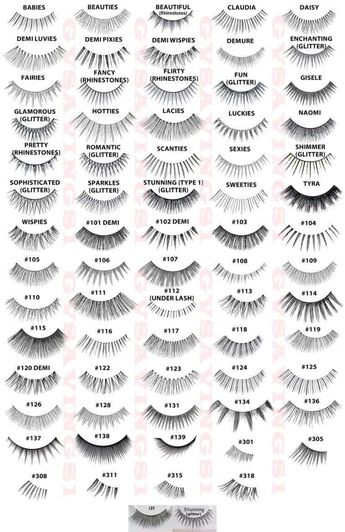 Details about (PICK ANY!) 12 Pairs ARDELL FALSE EYELASHES Fake Lashes Invisibands Lot Pack