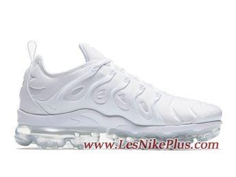 8d437552b9 Sneaker Nike Air VaporMax Plus Chaussures Nike 2018 Pas Cher Pour Homme  Triple White 924453-