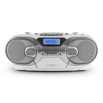 Rcd 230 Radio Cd Stéréo Portable Usb Sd Mp3 K7 Am/fm -blanc - Taille : TU