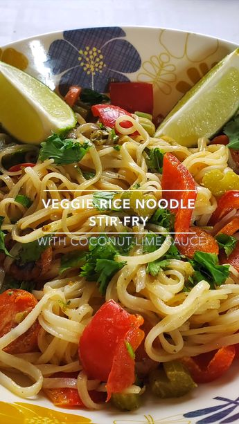 Simple vegan stir fry recipe with Coconut-Lime Sauce