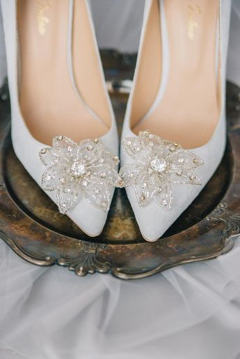 3eb2c9712bd Beautiful Wedding Flats with Opal and Crystal Beading Brid