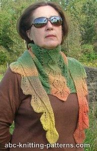 179ae1ca2 Small Sideways Shawl with Corkscrew Fringe ~ ABC Knitting