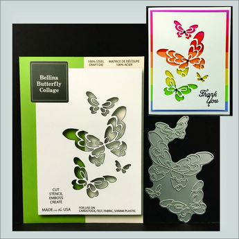 Swirl Butterfly Metal Die Cut Princess Poppystamps Cutting Dies 1136 Animals