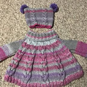 521421df1f75 Knitting Pattern - Vanilla Cloud Poncho and Hat Set (Toddler and Child  sizes)