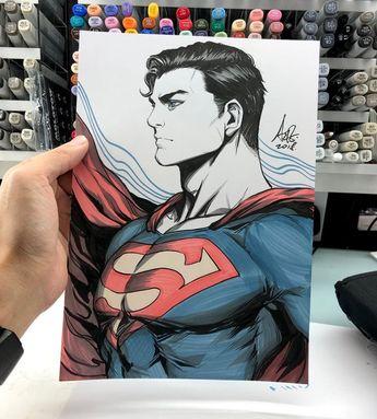 Dessins Artgerm : Harley Quinn, Superman, Street Fighter, Little Witch Academia