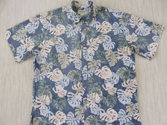 edd2701b Hawaiian Shirt Men COOKE STREET Copyrighted Jungle Reverse Print Aloha Shirt  Tropical Leaves 100% Cotton