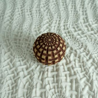 Medium Size Textured Cement Sand Sphere | Weaves Design