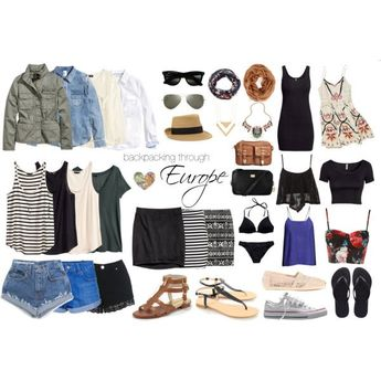 "summer europe packing | Backpacking Through Europe | Summer 2014"" by loryn91990 on Polyvore"