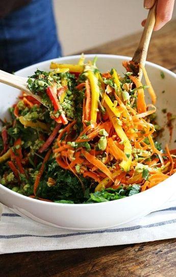 Chopped Thai Salad with Sesame Garlic Dressing