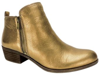 f5c91dffc89 Lucky Brand Women s Basel Ankle Boots Old Bronze Leather Size 8.5 M