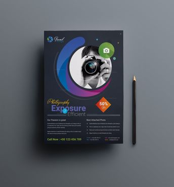 Photography Business Flyer Design Template - Graphic Templates