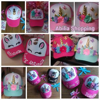 Gorras unicornio personalizadas Mamá e hija Abilia Shopping Whatsapp  3132196957 2a43dfbbc06
