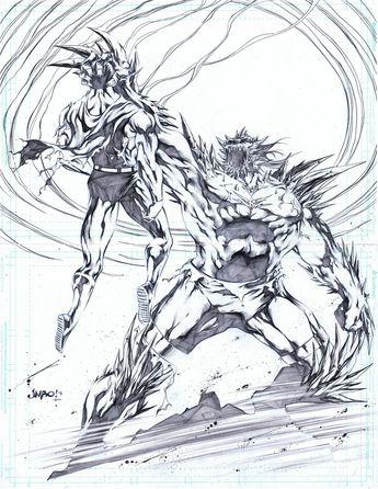 Superman vs Doomsday by Jimbo Salgado