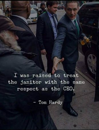 Respect can go a long way.